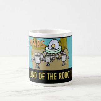 MARS - LAND OF THE ROBOTS COFFEE MUG