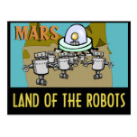 MARS - LAND OF THE ROBOTS POST CARDS