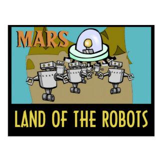 MARS - LAND OF THE ROBOTS POSTCARD