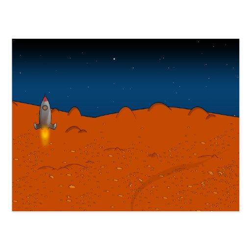 mars landing postcard