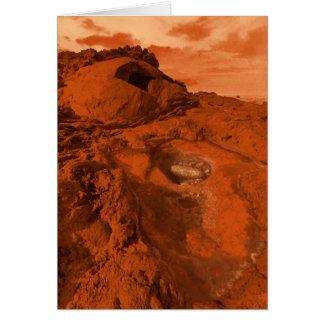 Mars landscape card