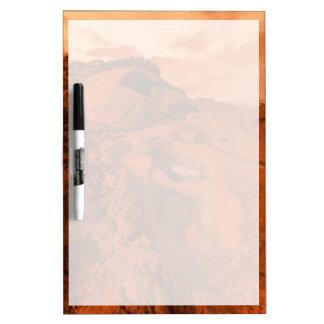 Mars landscape dry erase board