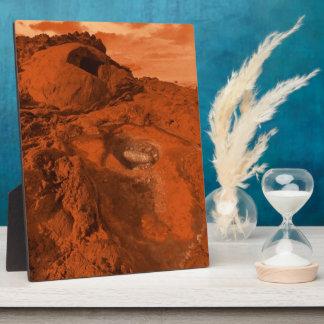 Mars landscape plaque