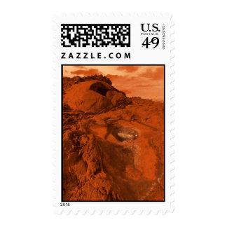 Mars landscape postage