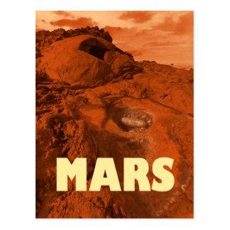Mars landscape postcard