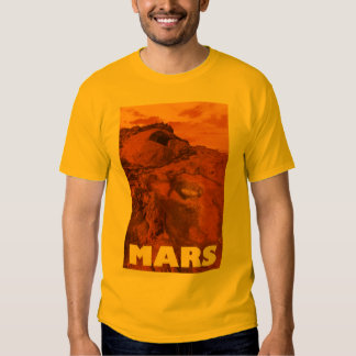 Mars landscape shirt
