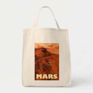 Mars landscape tote bag