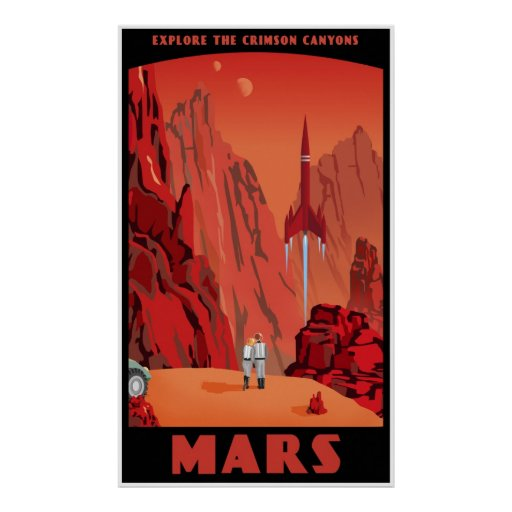 Mars: large version posters