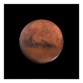 Mars Martian Space Astronomy Poster