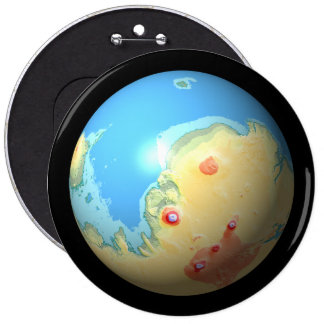 Mars Mola map after terraforming in space Pinback Button