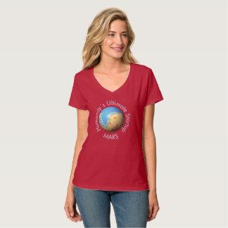Mars Mola map after terraforming T-Shirt