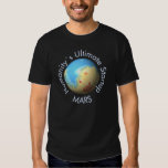 Mars Mola map after terraforming T Shirts