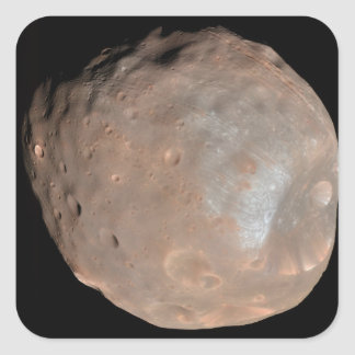 Mars moon Phobos Square Sticker
