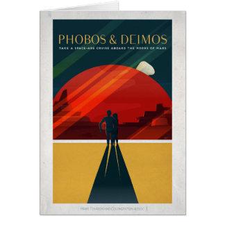 Mars Moons Phobos and Deimos Space Cruise Card