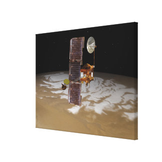 Mars Odyssey spacecraft Stretched Canvas Prints