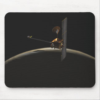Mars Odyssey spacecraft over martian sunrise Mouse Pad