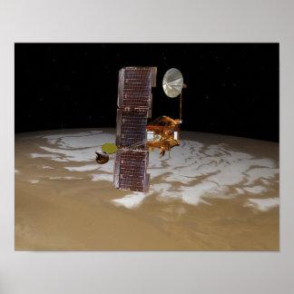 Mars Odyssey spacecraft Poster