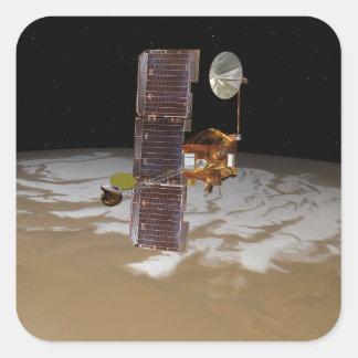 Mars Odyssey spacecraft Square Sticker