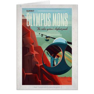 Mars Olympus Mons Sci-Fi Travel Card
