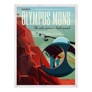 Mars Olympus Mons Space Tourist Postcard
