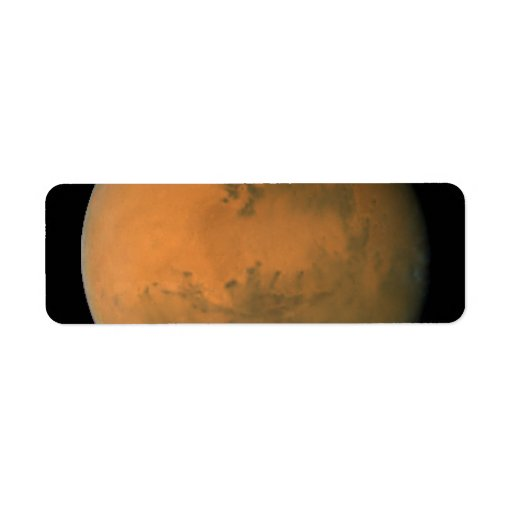 Mars on Dec. 1, 2007; longitude ~50 degrees Return Address Labels