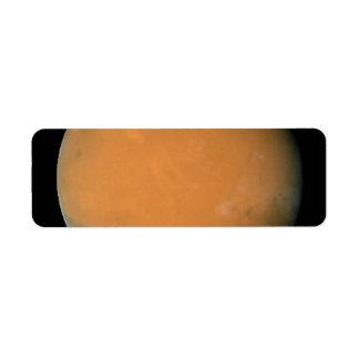 Mars on Dec 3 2007 longitude 225 degrees Custom Return Address Label