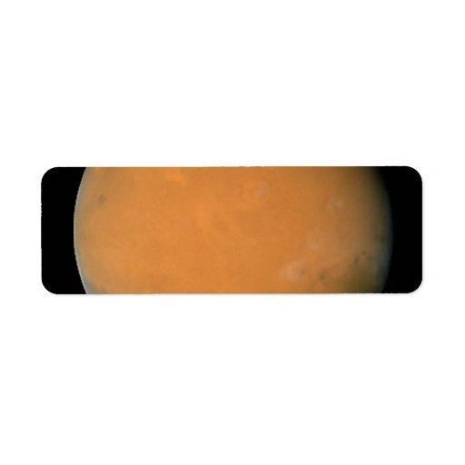 Mars on Dec. 3, 2007; longitude ~225 degrees Custom Return Address Label