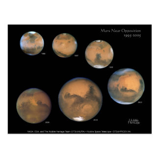 Mars Opposition 1995-2005 Postcard