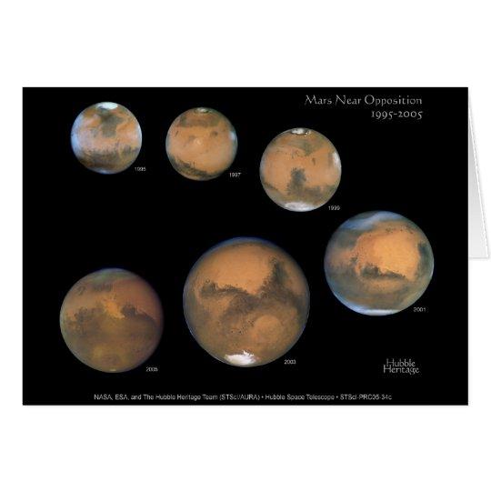 Mars Opposition 1995-2005 Sqr Card