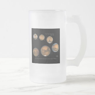 Mars Opposition 1995-2005 Sqr Frosted Glass Beer Mug