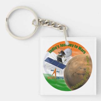 MARS ORBITER MISSION: ISRO Double-Sided SQUARE ACRYLIC KEYCHAIN