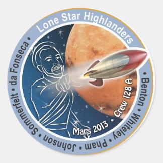 Mars Patch Crew 128A Classic Round Sticker