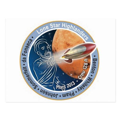 Mars Patch Crew 128A Postcard