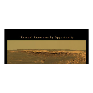 Mars 'Payson' Panorama by Opportunity Posters