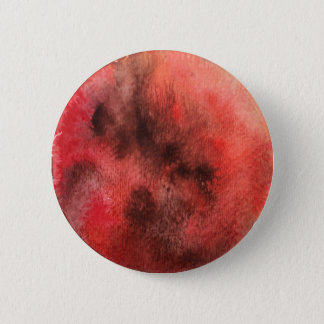Mars Planet Watercolor Round Button