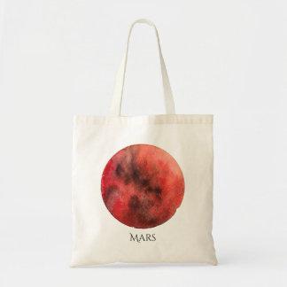Mars Planet Watercolor Tote