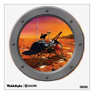 Mars Polar Lander Porthole Wall Sticker