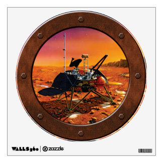 Mars Polar Lander Steampunk Porthole Window Wall Decal