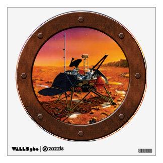 Mars Polar Lander Steampunk Porthole Window Room Decals
