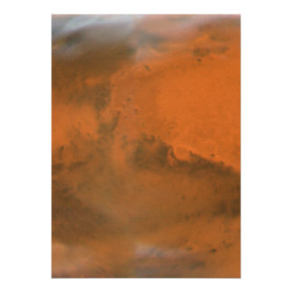 Mars Projection Map Poster
