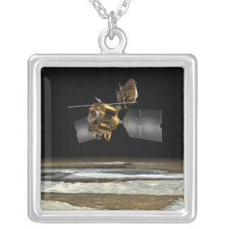 Mars Reconnaissance Orbiter 2 Square Pendant Necklace