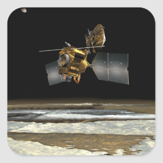 Mars Reconnaissance Orbiter 2 Pegatina Cuadrada