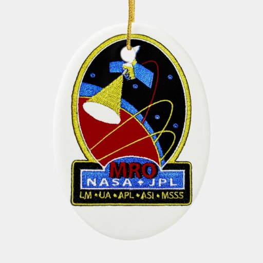 Mars Reconnaissance Orbiter (MRO) Adorno Navideño Ovalado De Cerámica