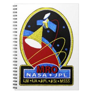 Mars Reconnaissance Orbiter (MRO) Libros De Apuntes Con Espiral