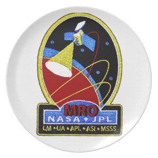 Mars Reconnaissance Orbiter (MRO) Melamine Plate