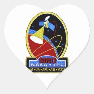 Mars Reconnaissance Orbiter (MRO) Pegatina En Forma De Corazón