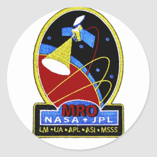 Mars Reconnaissance Orbiter (MRO) Pegatina Redonda