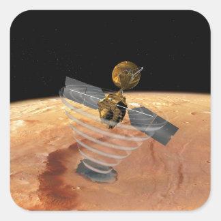 Mars Reconnaissance Orbiter Pegatina Cuadrada