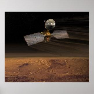 Mars Reconnaissance Orbiter que reduce velocidad Póster