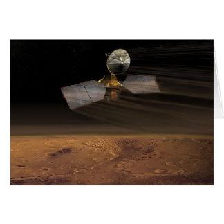 Mars Reconnaissance Orbiter que reduce velocidad Tarjeta De Felicitación